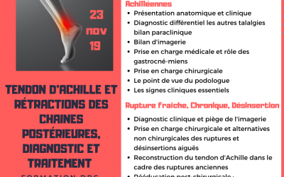 Formation chirurgie [tendons d'achille ]